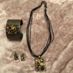 Earth tones jewelry set